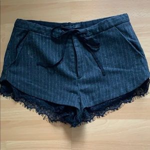 zara lace trimmed shorts